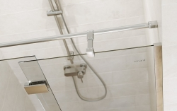 Sprchové dveře s panty CREA 100x200, pravé, čiré sklo (S159-002), fotografie 2/6