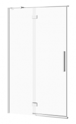 CERSANIT - Sprchové dveře s panty CREA 120x200, levé, čiré sklo (S159-003)