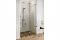 Sprchové dveře s panty CREA 120x200, levé, čiré sklo (S159-003), fotografie 2/9