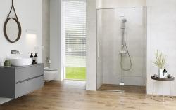 Sprchové dveře s panty CREA 120x200, levé, čiré sklo (S159-003), fotografie 8/9