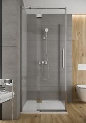 Sprchové dveře s panty CREA 120x200, levé, čiré sklo (S159-003), fotografie 16/9