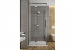 Sprchové dveře s panty CREA 120x200, pravé, čiré sklo (S159-004), fotografie 4/9