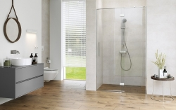 Sprchové dveře s panty CREA 120x200, pravé, čiré sklo (S159-004), fotografie 8/9