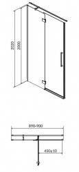 Sprchové dveře s panty CREA 90x200, levé, čiré sklo (S159-005), fotografie 12/6