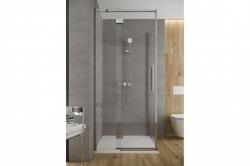 Sprchové dveře s panty CREA 90x200, levé, čiré sklo (S159-005), fotografie 2/6