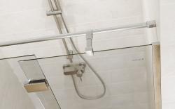 Sprchové dveře s panty CREA 90x200, levé, čiré sklo (S159-005), fotografie 4/6