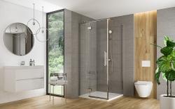Sprchové dveře s panty CREA 90x200, levé, čiré sklo (S159-005), fotografie 6/6