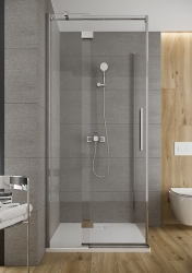 Sprchové dveře s panty CREA 90x200, pravé, čiré sklo (S159-006), fotografie 10/6