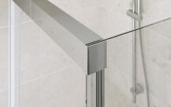 Sprchové posuvné dveře CREA 140x200, čiré sklo (S159-008), fotografie 2/4