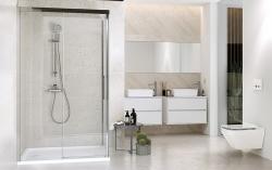 Sprchové posuvné dveře CREA 140x200, čiré sklo (S159-008), fotografie 4/4