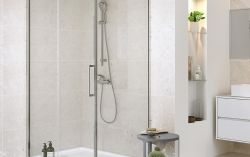 Sprchové posuvné dveře CREA 140x200, čiré sklo (S159-008), fotografie 6/4