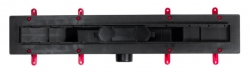 CERSANIT - Sprchová zástěna WALK-IN MILLE BLACK 120x200, čiré sklo + ŽLAB včetně ROŠTU (S161-004-SET01), fotografie 10/6