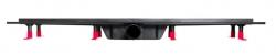 CERSANIT - Sprchová zástěna WALK-IN MILLE BLACK 120x200, čiré sklo + ŽLAB včetně ROŠTU (S161-004-SET01), fotografie 12/6