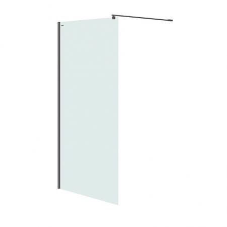 Sprchová zástěna WALK-IN MILLE BLACK 120x200, čiré sklo (S161-004)