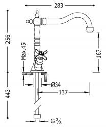 TRES - Dvoupáková dřezová kuchyňská baterie (24234201), fotografie 2/1