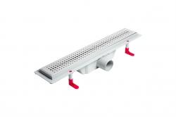 LaVilla sprchový žlab plastový MIANO s roštem BASIC  400mm boční odtok DN50 (LA25BNL0400B5)