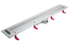 LaVilla sprchový žlab plastový MIANO s roštem BASIC  700mm boční odtok DN50 (LA25BNL0700B5)