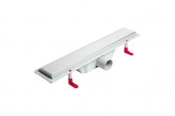 LaVilla sprchový žlab plastový MIANO s roštem KLASIK 2v1 400mm boční odtok DN50 (LA25KNL0400B5)