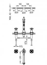 TRES - Dvoupáková umyvadlová baterieMožnost samostatné instalace. (24210501), fotografie 2/1