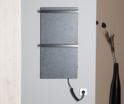 SAPHO - ELMIS elektrický sušák ručníků 400x800mm, 100W, antracit (EB410), fotografie 4/4