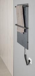 SAPHO - ELMIS elektrický sušák ručníků 400x800mm, 100W, antracit (EB410), fotografie 2/4