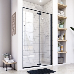 Aquatek - JAGUAR B5 115 jednokřídlé sprchové dveře, černá matná, čiré sklo 8mm, 112,5-116x200 cm (JAGUARB5115)