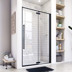 Aquatek - JAGUAR B5 120 jednokřídlé sprchové dveře, černá matná, čiré sklo 8mm, 117,5-121x200 cm (JAGUARB5120)