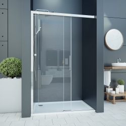 Aquatek - WELLNESS B2 125 Sprchové dveře zasouvací 122-126cm, sklo 6mm (WELLNESSB2125)