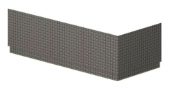 POLYSAN - MARLENE TIFA panel rohový 200x90cm, levý (72870)