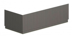 POLYSAN - MARLENE TIFA panel rohový 200x90cm, pravý (72871)