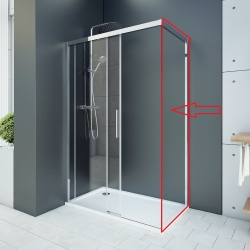 Aquatek - WELLNESS F1 70 - pevná boční stěna do kombinace s dveřmi, 67-69cm, sklo 6mm (WELLNESSF170)