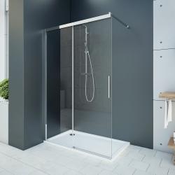 Aquatek - WELLNESS K2 110 Sprchový kout s posuvnými dveřmi 107,5-110cm, sklo 6mm, výplň sklo zrcadlové - mirror (WELLNESSK2110-69)