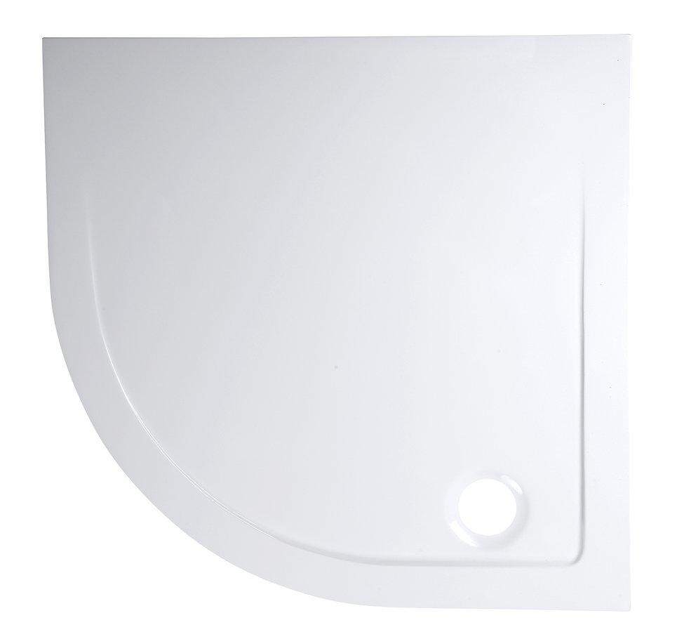 AQUALINE Sprchová vanička z litého mramoru, čtvrtkruh 90x90x3 cm, R55 AG559R