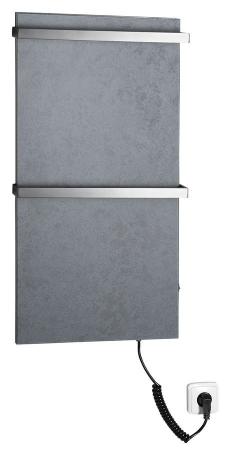 SAPHO - ELMIS elektrický sušák ručníků 400x800mm, 100W, antracit (EB410)