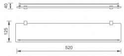 NOVASERVIS - Polička se zábradlím Titania Naty černá (66653,5), fotografie 4/2