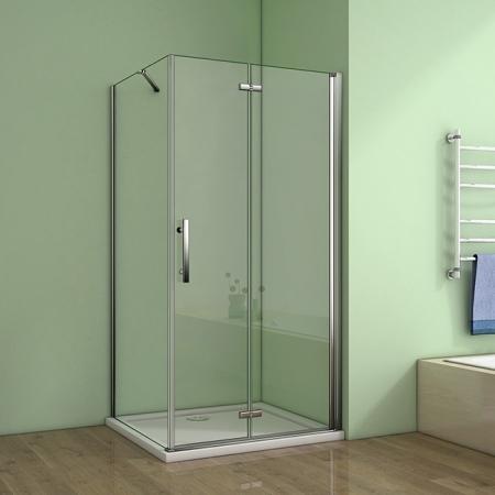 H K - Obdélníkový sprchový kout MELODY 110x90 cm se zalamovacími dveřmi , výplň sklo - grape (SE-MELODYB811090-19)