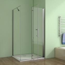 H K - Obdélníkový sprchový kout MELODY 110x90 cm se zalamovacími dveřmi , výplň sklo - grape (SE-MELODYB811090-19), fotografie 10/10