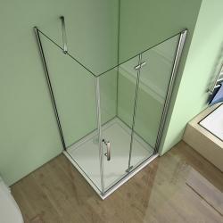 H K - Obdélníkový sprchový kout MELODY 110x90 cm se zalamovacími dveřmi , výplň sklo - grape (SE-MELODYB811090-19), fotografie 14/10