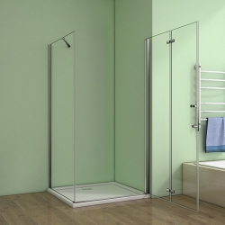 H K - Obdélníkový sprchový kout MELODY 110x90 cm se zalamovacími dveřmi , výplň sklo - grape (SE-MELODYB811090-19), fotografie 12/10