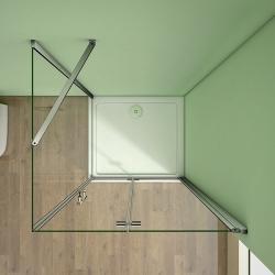 H K - Obdélníkový sprchový kout MELODY 110x90 cm se zalamovacími dveřmi , výplň sklo - grape (SE-MELODYB811090-19), fotografie 16/10