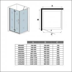 H K - Obdélníkový sprchový kout MELODY 110x90 cm se zalamovacími dveřmi , výplň sklo - grape (SE-MELODYB811090-19), fotografie 18/10