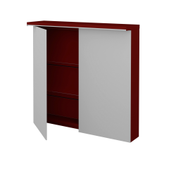Dřevojas - DvoudvEřová galerka MAJESTY GA2OE 80 - L07 Červená vysoký lesk (83956)