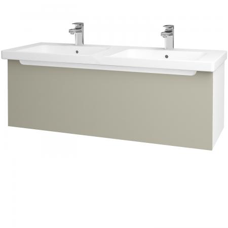 Dřevojas - Koupelnová skříň COLOR SZZ 125 - N01 Bílá lesk / L04 Béžová vysoký lesk (67628)