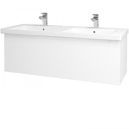 Dřevojas - Koupelnová skříň COLOR SZZ2 125 - N01 Bílá lesk / L01 Bílá vysoký lesk (23518)