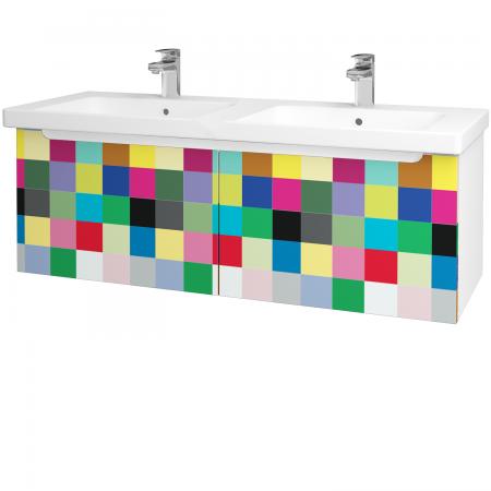 Dřevojas - Koupelnová skříň COLOR SZZ2 125 - N01 Bílá lesk / IND Individual (23808)