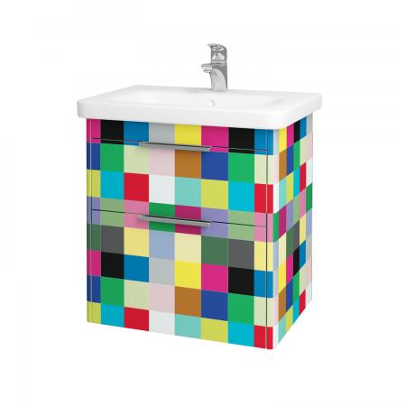 Dřevojas - Koupelnová skříň ENZO SZZ2 65 - IND Individual / IND Individual (52563)