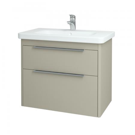 Dřevojas - Koupelnová skříň ENZO SZZ2 80 - L04 Béžová vysoký lesk / L04 Béžová vysoký lesk (52495)