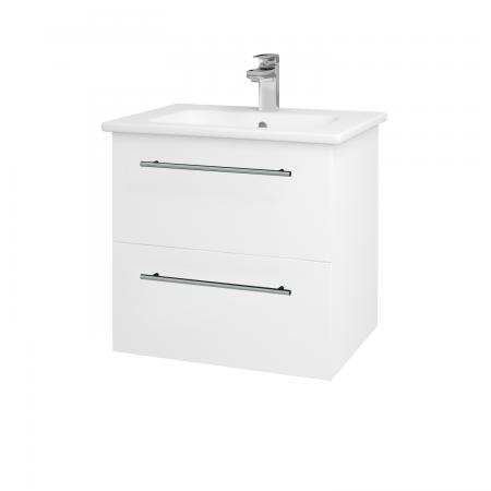 Dřevojas - Koupelnová skříň GIO SZZ2 60 - N01 Bílá lesk / Úchytka T02 / L01 Bílá vysoký lesk (82751B)