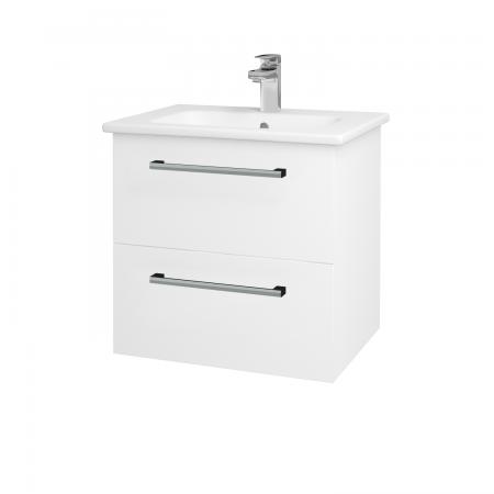 Dřevojas - Koupelnová skříň GIO SZZ2 60 - N01 Bílá lesk / Úchytka T03 / L01 Bílá vysoký lesk (82751C)