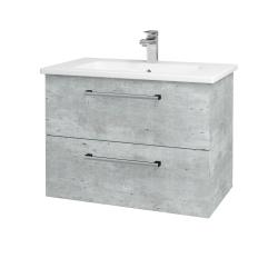 Dřevojas - Koupelnová skříň GIO SZZ2 80 - D01 Beton / Úchytka T03 / D01 Beton (82096C)